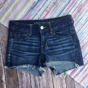 American Eagle 4 Shortie Denim Jean Shorts